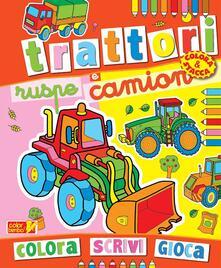 Promoartpalermo.it Colora trattori, ruspe e camion. Ediz. illustrata Image