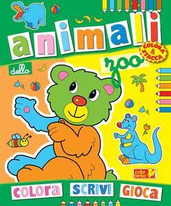 Colora gli animali dello zoo. Ediz. illustrata