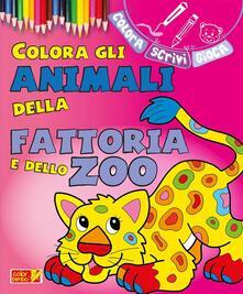 Associazionelabirinto.it Colora gli animali della fattoria e dello zoo. Ediz. illustrata Image