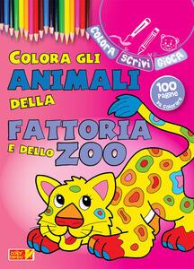 Colora gli animali della fattoria e dello zoo