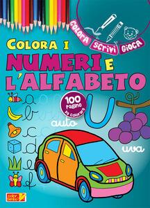 Colora i numeri e l'alfabeto