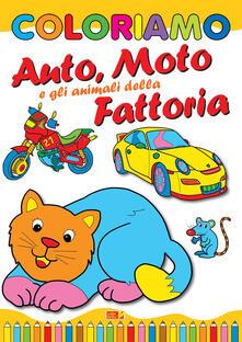 Amatigota.it Coloriamo auto, moto e gli animali della fattoria. Ediz. illustrata Image