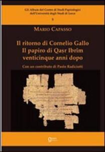 Il ritorno di Cornelio Gallo
