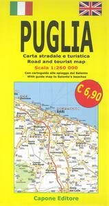 Puglia. Carta stradale e guida turistica. Con cartoguida alle spiagge del Salento 1:260.000. Ediz. italiana e inglese