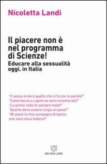 Antondemarirreguera.es Il piacere non è nel programma di scienze! Educare alla sessualità oggi in Italia Image