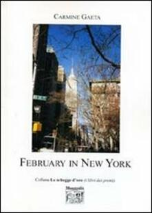 February in New York - Carmine Gaeta - copertina
