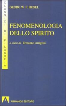 Fenomenologia dello spirito - Friedrich Hegel - copertina