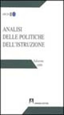 Analisi delle politiche dell'istruzione 1999 - copertina