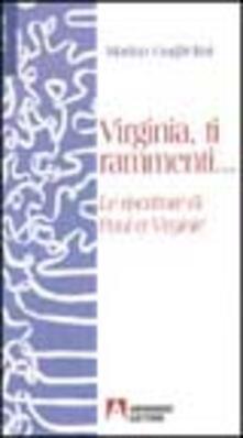 Virginia ti rammenti... Le riscritture di Paul et Virginie - Marina Guglielmi - copertina