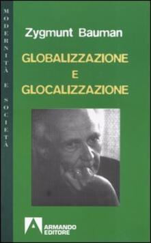 Globalizzazione e glocalizzazione - Zygmunt Bauman - copertina