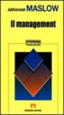 Il management - Abraham H. Maslow - copertina