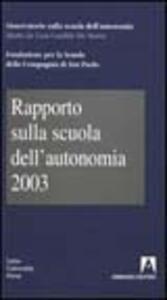 Rapporto sulla scuola dell'autonomia 2003