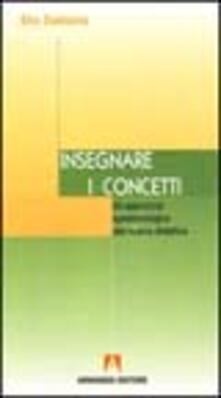 Insegnare i concetti - Elio Damiano - copertina