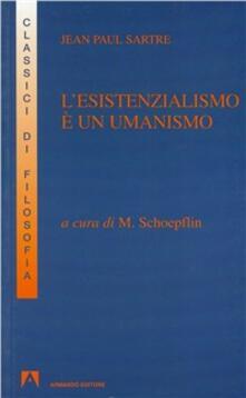 L' esistenzialismo è un umanismo - copertina