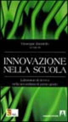 Innovazione nella scuola - Giuseppe Zanniello - copertina