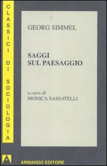 Saggi sul paesaggio - Georg Simmel - copertina