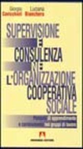 Supervisione e consulenza nell'organizzazione cooperativa sociale