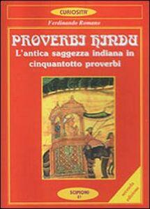 Foto Cover di Proverbi hindu. L'antica saggezza indiana in cinquantotto proverbi, Libro di Ferdinando Romano, edito da Scipioni