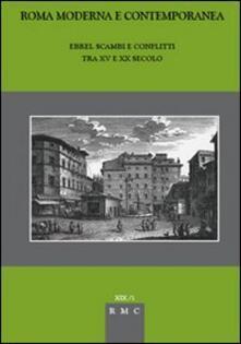Ebrei. Scambi e conflitti tra XV e XX secolo - copertina