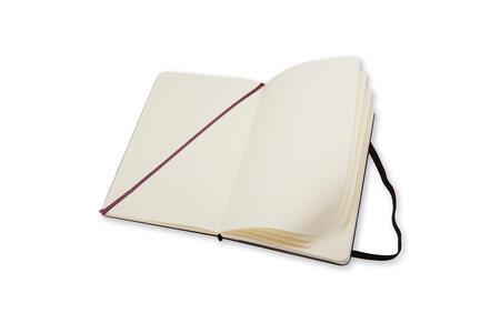 Taccuino Moleskine large a pagine bianche copertina rigida nero. Black - 3