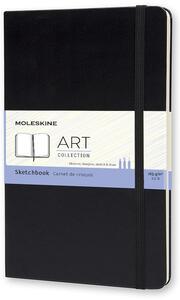 Album per schizzi Art Sketchbook Moleskine large copertina rigida nero. Black