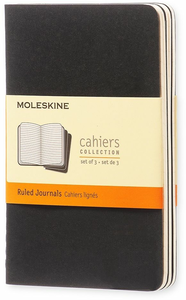 Cartoleria Quaderno Cahier Moleskine pocket a righe. Set da 3 Moleskine 0