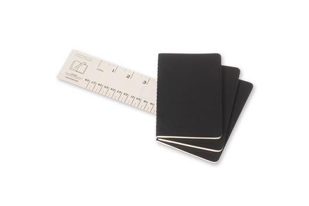 Cartoleria Quaderno Cahier Moleskine pocket a righe. Set da 3 Moleskine 2