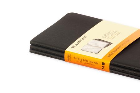 Cartoleria Quaderno Cahier Moleskine pocket a righe. Set da 3 Moleskine 4