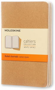 Cartoleria Quaderno Cahier Moleskine pocket a righe . Set da 3 Moleskine 0