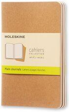 Cartoleria Quaderno Cahier Journal Moleskine pocket a pagine bianche beige. Kraft Brown. Set da 3 Moleskine