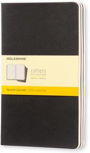Cartoleria Quaderno Cahier Moleskine large a quadretti. Set da 3 Moleskine 0