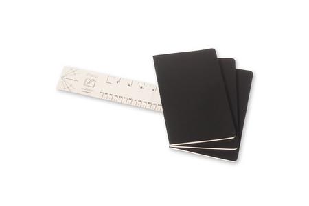 Cartoleria Quaderno Cahier Moleskine large a quadretti. Set da 3 Moleskine 2
