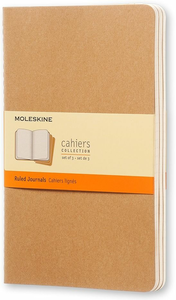 Cartoleria Quaderno Cahier Moleskine large a righe . Set da 3 Moleskine 0