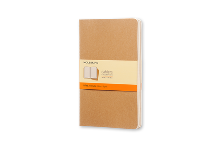 Cartoleria Quaderno Cahier Moleskine large a righe . Set da 3 Moleskine 5