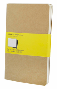 Cartoleria Quaderno Cahier Moleskine large a quadretti . Set da 3 Moleskine 4