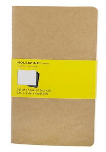 Cartoleria Quaderno Cahier Moleskine large a quadretti . Set da 3 Moleskine 5