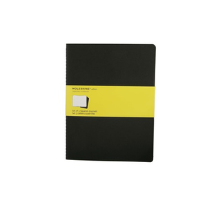 Cartoleria Quaderno Cahier Moleskine extra large a quadretti. Set da 3 Moleskine 2