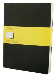Cartoleria Quaderno Cahier Moleskine extra large a quadretti. Set da 3 Moleskine 4
