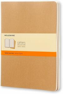 Quaderno Cahier Moleskine extra large a righe . Set da 3