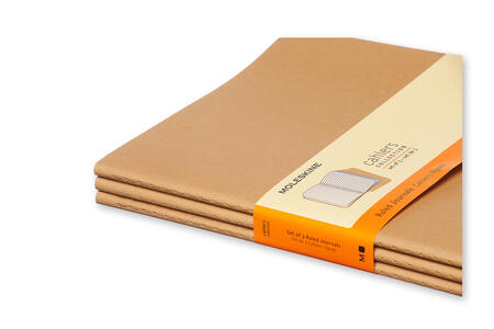 Quaderno Cahier Moleskine extra large a righe . Set da 3 - 5