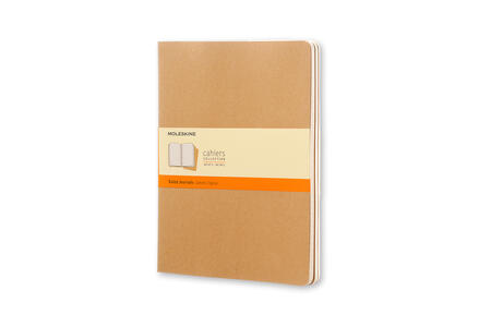 Quaderno Cahier Moleskine extra large a righe . Set da 3 - 6