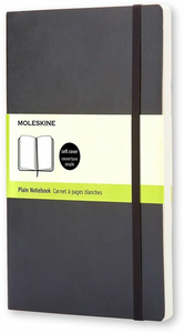 Cartoleria Taccuino Moleskine large a pagine bianche copertina morbida Moleskine 0