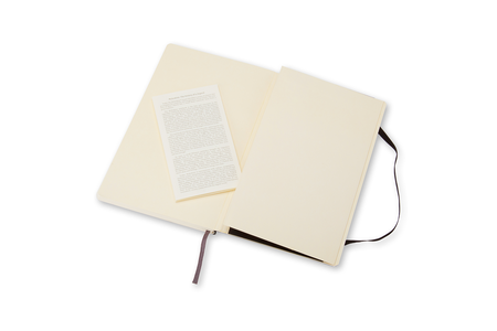 Cartoleria Taccuino Moleskine large a pagine bianche copertina morbida Moleskine 3