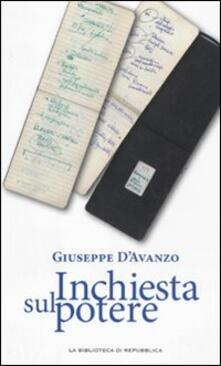 Inchiesta sul potere - Giuseppe D'Avanzo - copertina