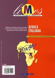 Limes. Rivista italiana di geopolitica (2017). Vol. 11: Africa italiana. - copertina