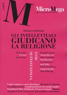 Micromega (2017). Vol. 8: intellettuali giudicano la religione, Gli. - copertina