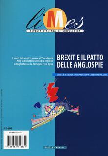 Limes. Rivista italiana di geopolitica (2016). Vol. 6: Brexit e il patto delle anglospie. - copertina