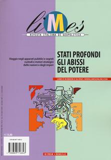 Chievoveronavalpo.it Limes. Rivista italiana di geopolitica (2018). Vol. 8: Stati profondi. Gli abissi del potere (agosto). Image