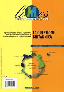 Limes. Rivista italiana di geopolitica (2019). Vol. 5: questione britannica, La. - copertina