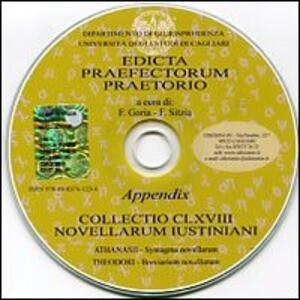 Edicta praefectorum praetorio. Ediz. italiana, latina e greca. CD-ROM